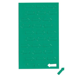 BA-012A/green, Symboles magnétiques flèche petite, pour tableaux blancs & tableaux de planning, 30 symboles par feuille, Vert
