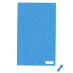 BA-012A/blue, Symboles magnétiques flèche petite, pour tableaux blancs & tableaux de planning, 30 symboles par feuille, bleu
