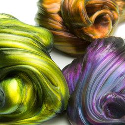M-PUTTY-IRIS, Intelligente Knete Flip-Flop, schillert in verschiedenen Farben, nicht magnetisch!