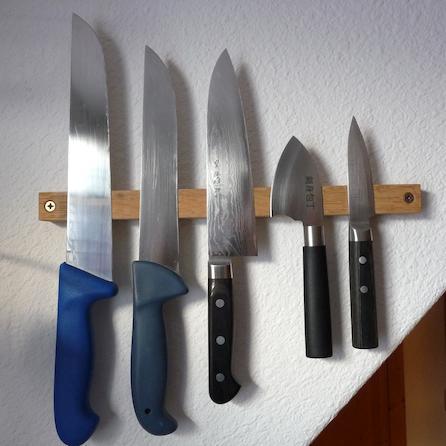 applications aimants construire un porte couteaux magn tique. Black Bedroom Furniture Sets. Home Design Ideas