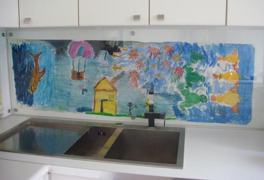 Applications aimants prot ge mur dans la cuisine for Protege mur cuisine