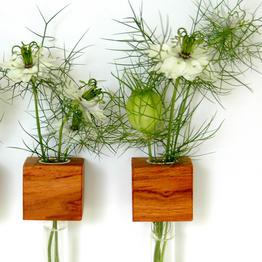 Vase à fleurs en bois pratique et magnétique