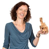 Set magnétique de cubes en bois