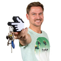 Porte-clés 'main 8-bits'